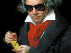 What Would Beethoven Do? Orchestras and arts organizations are struggling. Popular interest in classical music is at an all time low. What would Beethoven do? Romantic Composers, Classical Music Composers, Bass Cello, Music Aesthetic, Music Humor, Anime Music, Spotify Playlist, Twisted Humor, Soul Music