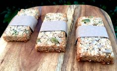Pop these nut free Super Seeds Muesli Bars on your menu plan for next week. They're perfect for busy mums but can also double as a lunchbox snack Healthy Baking, Clean Recipes, Baby Food Recipes, Baking Recipes, Healthy School Lunches, Healthy Meals For Kids, Kids Meals, Healthy Snacks, Healthy Eating