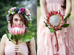 King protea focal point - bouquet