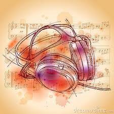 carteles de auriculares con notas musicales - Buscar con Google