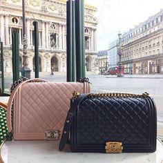 Chanel boy bag in Paris handbags wallets - amzn.to/2jDeisA Clothing, Shoes & Jewelry : Women : Handbags & Wallets : handbags for women http://amzn.to/2jUCm9A