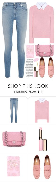 """""""pink / blue look"""" by licethfashion ❤ liked on Polyvore featuring Givenchy, Altuzarra, Chanel, Clarins, Denik, H&M, polyvoreeditorial and licethfashion"""