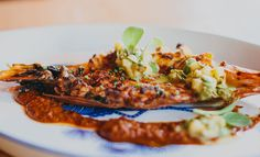 """Broken Spanish, """"the restaurant by Ray Garcia who took over the space of Rivera. The chef was born in Southern California, and his Mexican food reflects his upbringing. My favorite dish was a turkey leg braised in mole and topped with a little piles of fresh corn."""" Michael Bauer"""