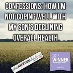 Confessions: How I'm not coping well with my son's declining overall health  So I've mentioned that I'm going through some things at the moment but never got around to saying exactly what those things were. This is the post I promised a few days ago. I'm sorry it took so long but it's not as easy for me to write lately.  By nature  https://www.theautismdad.com/2016/09/20/confessions-how-im-not-coping-well-with-my-sons-declining-overall-health/  Please Like, Share and visit ou