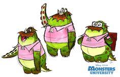 Monstres Academy - The Art of Disney Pixar Concept Art, Monster Concept Art, Walt Disney, Disney Art, Disney Pixar, Monster University, Character Design Animation, 3d Character, Monsters Inc Characters