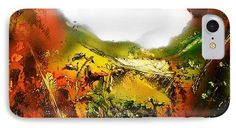 Golden Valley IPhone 7 Case Printed with Fine Art spray painting image Golden Valley by Nandor Molnar (When you visit the Shop, change the orientation, background color and image size as you wish)