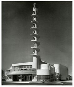 Academy Theatre, Inglewood, California 1939 by architect S. Charles Lee.