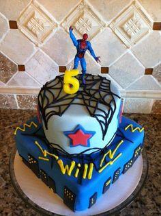 Spiderman Birthday Cake!
