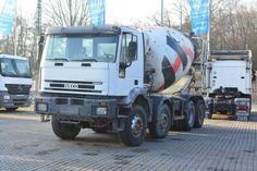 For sale Concrete Iveco 340 EH 350 8x4 Second Hand. Manufacture year: 2001. Weight: 32000 kg. Mileage: 314937 km. Excellent running condition. Ask us for price. Reference Number: AC2371. Baurent Romania.