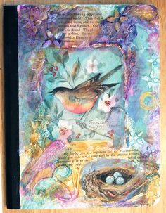 Mixed media journal cover.