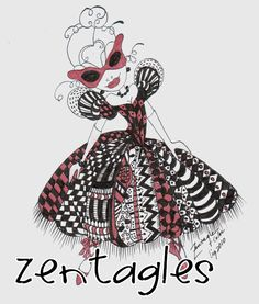 zentangle dress |Pinned from PinTo for iPad|