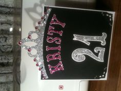 21st birthday card for a princess. Using storybook cartridge