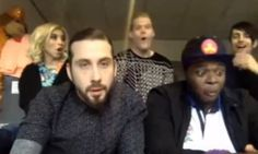 everyone's reaction to mitch being sassy @ kevin O_O #pentatonix