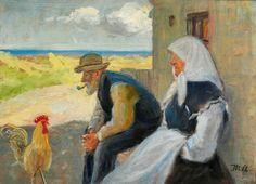 Michael Ancher  Fisker og hans kone på en klit 80x110cm