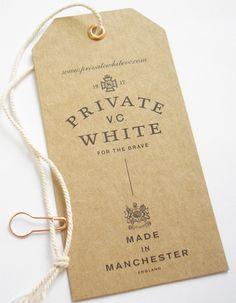 Private VC White #hangtag
