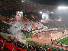 Under a blanket of stars....  Curva Sud Roma