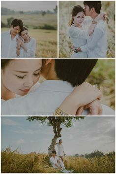 Pre wedding photso at the rice fields of Canggu, Bali. Photos by Apel Photography