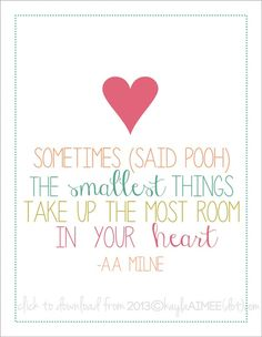 Free Printable: Winnie The Pooh Quote
