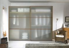 Closet: Semi Transparent Wardrobe With Frosted Glass Doors: Innovative Closet Design for Our Modern Master Bedroom Bedroom Decor Design, House Design, Wardrobe Design Modern, Interior Decorating, Glass Wardrobe, Decor Interior Design, Home Decor, Modern Minimalist Interior, Closet Design