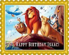 Lion King 1 Edible Birthday Cake Topper