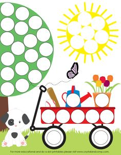Spring Do a Dot Printables for Preschoolers