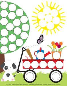Preschool Do a Dot Printables: Spring