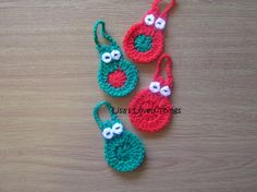 Christmas Owl Decorations - set of 4 - The Supermums Craft Fair