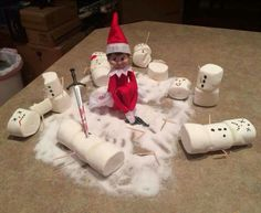 Naughty Elf on shelf