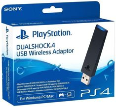 Sony PlayStation 4 Dualshock USB Wireless Adaptor for Mac Windows Playstation, Xbox, Sony, Consoles, Microsoft, Bluetooth Dongle, Bluetooth Headphones, Best Gaming Headset, Videogames