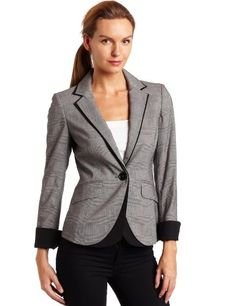 f3be629ba9e26 Ak Anne Klein Women`s Glen Plaid Blazer - Listing price   179.00 Now
