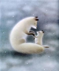 "Ken Kuroi, illustration for ""Tebukuro wo kaini"" (""Buying Mittens""). So soft and sweet. Fuchs Baby, Fuchs Illustration, Fox Spirit, Fox Art, Cute Fox, Illustrations, Cute Drawings, Whimsical Art, Photo Art"