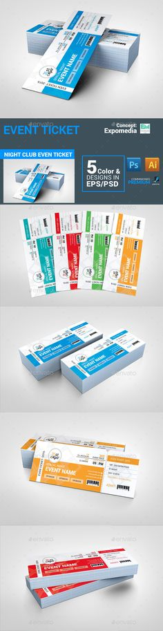 #Event #Ticket - Invitations Cards & Invites Download here: https://graphicriver.net/item/event-ticket/13851252?ref=alena994