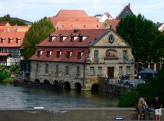 Bamberg - the tour boat dock