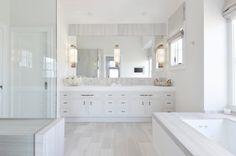 Tile, sconces, clean palatte  | Tamara Magel