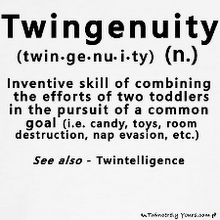 Twingenuity - my kids have this perfected! Twin Mom, Twin Girls, Twin Sisters, Twin Quotes, Wonder Twins, Boy Girl Twins, Bestest Friend, Identical Twins, How To Have Twins
