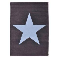 alfombra Estrella gris oscuro-azul | Tiendas On