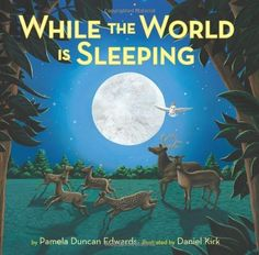 While The World Is Sleeping by Pamela Duncan Edwards. A child takes a ride on an owl and sees what nocturnal animals do while we sleep. Great bedtime story for the little ones.