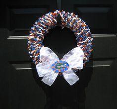 Beaded Florida Gator Wreath