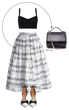 """Music to my ears"" by naomimjc ❤ liked on Polyvore featuring Chicwish, Dolce&Gabbana and Givenchy"
