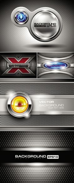 Abstract Metal Backgrounds Vector 4