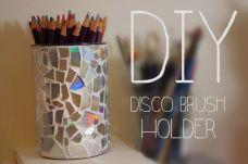Disco Ball Brush Holder » DIY KlairedeLys