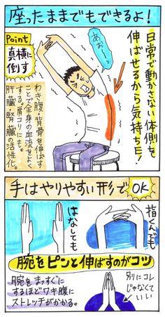 三日月のポーズ(椅子ver 全身 肩 脇腹 背骨