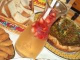 Receita Sangria de champanhe e morangos