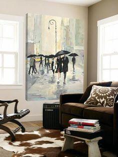 City in the Rain Loft Art by Avery Tillmon at Art.com
