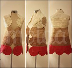 Petal flower crocheted tunic  five colours READY TO SHIP by Molda, $125.00