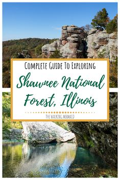 This guide to Shawnee National Forest in South Illinois will guide you to some of the most beautiful spots in the entire forest such as Garden of the Gods Devil's Backbone the Natural Bridge and even Jackson Falls. Camping Spots, Camping And Hiking, Hiking Trails, Hiking Spots, Camping Guide, Camping Ideas, Backpacking, Shawnee National Forest, Backyard Camping
