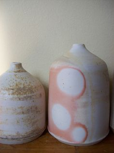 anagama fired porcelian bottles1 by Emily Nesting