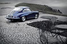 Porsche 356 - coastline by bischii Porsche Classic, Classic Cars, Audi, Bmw, Porsche 356, Maserati, Ferrari, Porsche Sports Car, Porsche Models