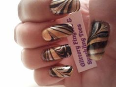 . 3d Nail Art, Art Nails, Mani Pedi, Pedicure, French Acrylic Nails, Gold Water, Nail Trends, Marbles, Love Nails