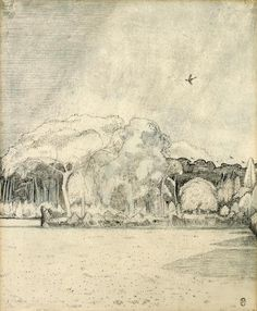 Paul Nash (British, 1889-1946) The Field Before the Wood  signed indistinctly (lower left) and again with monogram (lower right) ink, pencil, chalk and watercolour 36.8 x 30.5 cm. (14 1/2 x 12 in.)  Executed in 1912 FOOTNOTES PROVENANCE: Alice Last, 1912 D. Baden Powell Private Collection, since 1959  EXHIBITED: London, Carfax & Co., Drawings by Paul Nash (1), November 1912  LITERATURE: Margot Eates (Ed.), Paul Nash, Paintings, Drawings and Illustrations, Lund Humphries, 1948, pl.6 C.C…